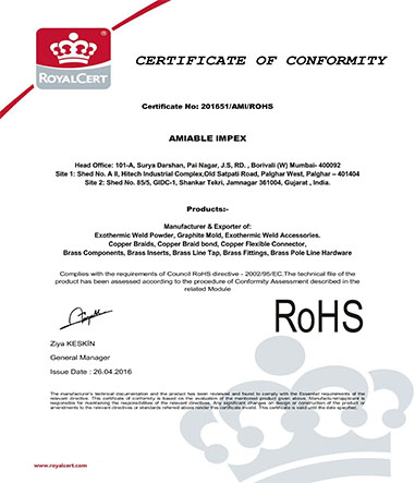 Exothermic-Welding-Certificates-ROHS