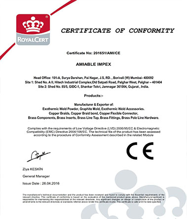 Exothermic-Welding-Certificates-CE-AMIABLE